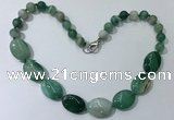 CGN257 20.5 inches 8mm round & 18*25mm oval agate necklaces