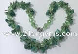 CGN414 19.5 inches chinese crystal & amazonite chips beaded necklaces