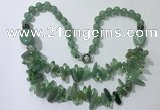CGN524 23.5 inches chinese crystal & green aventurine beaded necklaces