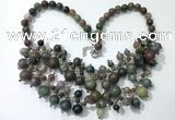 CGN572 19.5 inches stylish 4mm - 12mm Indian agate beaded necklaces