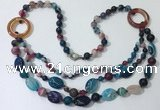CGN601 23.5 inches striped agate gemstone beaded necklaces