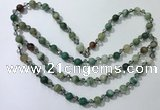 CGN658 22 inches chinese crystal & striped agate beaded necklaces