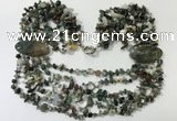CGN763 20 inches stylish 6 rows Indian agate chips necklaces