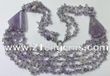 CGN781 23.5 inches stylish lavender amethyst chips necklaces