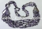 CGN782 23.5 inches stylish amethyst gemstone chips necklaces