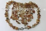 CGN831 20 inches stylish red agate gemstone statement necklaces