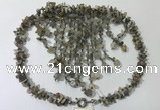 CGN832 20 inches stylish grey agate gemstone statement necklaces