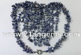 CGN835 20 inches stylish blue spot stone statement necklaces