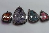 CGP1543 35*40mm - 45*70mm freeform druzy agate pendants