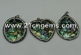 CGP311 35*45mm - 40*40mm abalone shell pendants wholesale