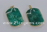 CGP3338 35*45mm - 35*50mm fossil coral pendants wholesale