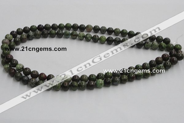 CGR02 16 inches 8mm round green rain forest stone beads wholesale