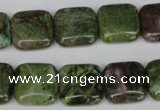 CGR33 15.5 inches 14*14mm square green rain forest stone beads
