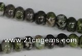 CGR45 15.5 inches 4*6mm rondelle green rain forest stone beads