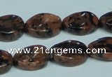CGS221 15.5 inches 13*18mm twisted oval blue & brown goldstone beads