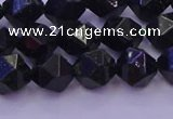 CGS462 15.5 inches 8mm faceted nuggets green goldstone beads