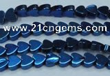 CHE1004 15.5 inches 6*6mm heart plated hematite beads wholesale