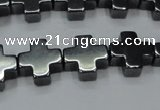CHE1006 15.5 inches 10*10mm cross hematite beads wholesale