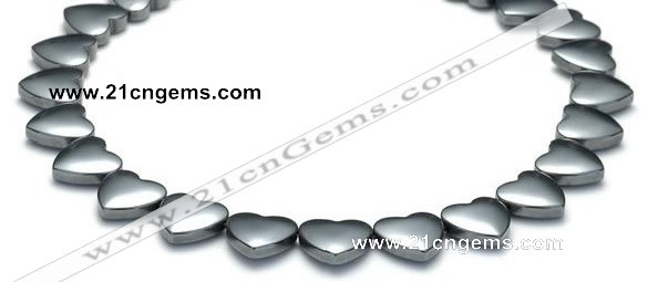 CHE12 15 inches 12mm heart shape hematite beads Wholesale