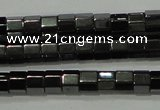 CHE125 15.5 inches 3*4mm faceted tube hematite beads wholesale