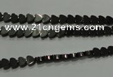 CHE266 15.5 inches 4*4mm heart hematite beads wholesale