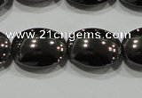 CHE277 15.5 inches 10*14mm oval hematite beads wholesale