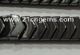 CHE297 15.5 inches 6*9mm hematite beads wholesale
