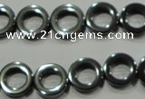 CHE302 15.5 inches 12mm donut hematite beads wholesale