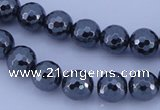 CHE34 16 inches 8mm faceted round hematite beads Wholesale