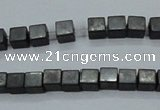 CHE415 15.5 inches 2*2mm cube matte hematite beads wholesale