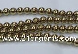CHE431 15.5 inches 3mm round plated hematite beads wholesale