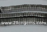 CHE569 15.5 inches 1*3*3mm square plated hematite beads wholesale