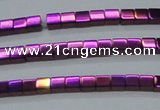 CHE604 15.5 inches 3*3mm cube plated hematite beads wholesale