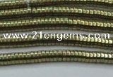 CHE642 15.5 inches 1*2mm tyre plated hematite beads wholesale