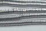 CHE660 15.5 inches 1*4mm tyre plated hematite beads wholesale