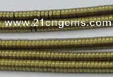 CHE676 15.5 inches 1*3mm tyre matte plated hematite beads