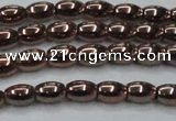 CHE742 15.5 inches 4*6mm rice plated hematite beads wholesale