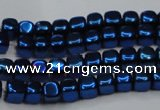 CHE859 15.5 inches 3*3mm dice platedhematite beads wholesale