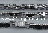 CHE918 15.5 inches 1*3mm triangle plated hematite beads wholesale