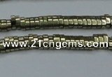 CHE930 15.5 inches 1*2*3mm oval plated hematite beads wholesale