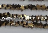 CHE948 15.5 inches 6mm star plated hematite beads wholesale