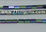 CHE958 15.5 inches 2*4mm cuboid plated hematite beads wholesale