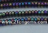 CHE963 15.5 inches 1.5*3mm rondelle plated hematite beads wholesale