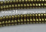 CHE964 15.5 inches 1.5*3mm rondelle plated hematite beads wholesale