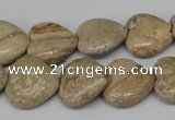 CHG41 15.5 inches 14*14mm heart picture jasper beads wholesale
