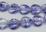 CHG44 15.5 inches 14*14mm heart dyed crystal beads wholesale