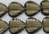 CHG65 17*17mm heart synthetic smoky quartz beads wholesale