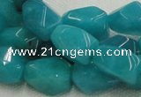CHM05 16 inches 10*16mm freeform blue hemimorphite beads wholesale