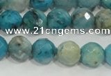 CHM214 15.5 inches 12mm faceted round blue hemimorphite beads