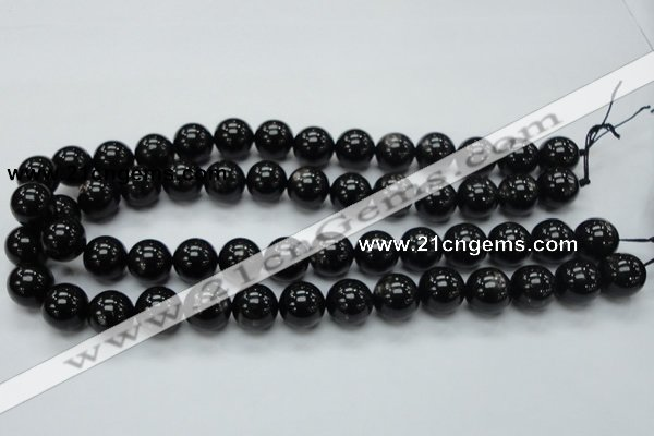 CHS02 15.5 inches 14mm round natural hypersthene gemstone beads